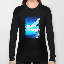Lighthouse At The Sea Long Sleeve T-shirt