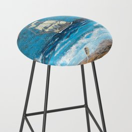 HMS Victory in paradise Bar Stool
