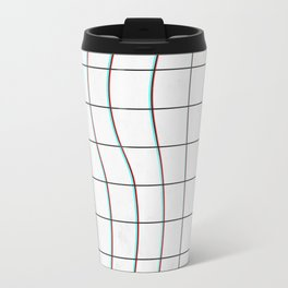 Square Glitch Pattern Travel Mug