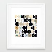 alphabet Framed Art Prints featuring Alphabet by maria carluccio