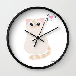 I meow you - transparent Wall Clock