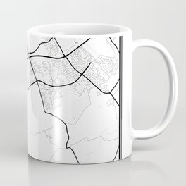 Middlesbrough Light City Map Coffee Mug