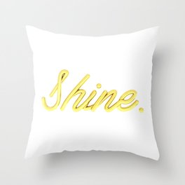 golden shine Throw Pillow