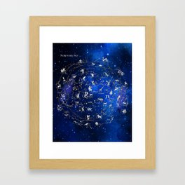 Northern Sky Constellations Framed Art Print
