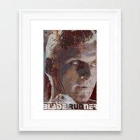 blade runner Framed Art Prints featuring Blade Runner by Duke Dastardly