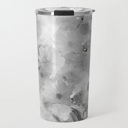 HORSE AND CHERRY BLOSSOMS IN BLACK AND WHITE Travel Mug