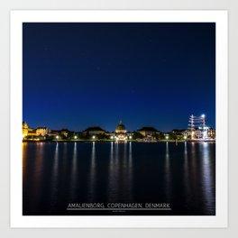 Clear Night in Copenhagen Art Print