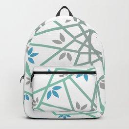 Decorative leaf Mandala Backpack