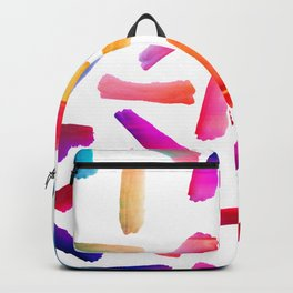 Modern colorful watercolor artistic brushstrokes Backpack