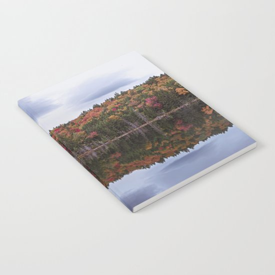 Autumn reflection Panorama Notebook