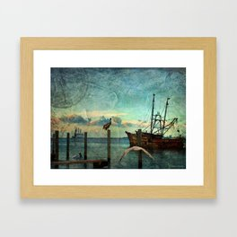 Somewhere...beyond the sea Framed Art Print