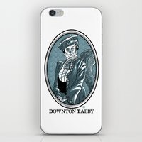 downton abbey iPhone & iPod Skins featuring Downton Tabby by Gimetzco's Damaged Goods