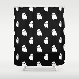 Black and White Ghosts Shower Curtain