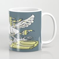 backpack Mugs featuring Magical Mystery Backpack by Amy Gale
