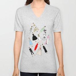 Audrey Fashion (Scattered) Unisex V-Neck