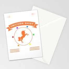 "Silhouette Of A Unicorn ""Never Thought I'd Be Wearing A Unicorn Shirt But Here We Are "" T-shirt Stationery Cards"