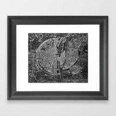 Vintage Paris Negative Framed Art Print