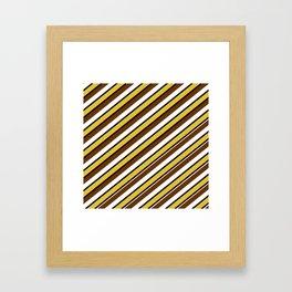 Team Colors...brown.gold,white and black Framed Art Print