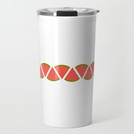 Watermelon ZigZag Travel Mug