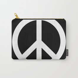 Peace (White & Black) Carry-All Pouch