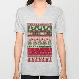 Pine Tree Ugly Sweater Unisex V-Neck