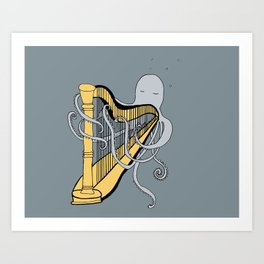 Octopus harper- illustration print Art Print
