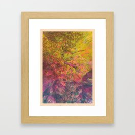 NEON MOUNTAINS / PATTERN SERIES 006 Framed Art Print