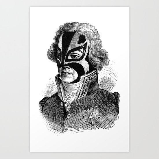WRESTLING MASK 11 Art Print