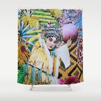 cherry blossom Shower Curtains featuring Cherry Blossom by John Turck
