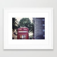 telephone Framed Art Prints featuring Telephone.  by Ciara Rose Photography