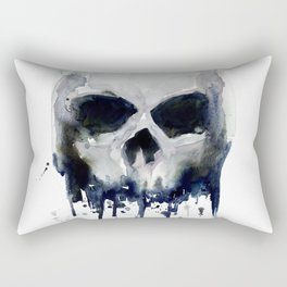 Skull Watercolor Rectangular Pillow
