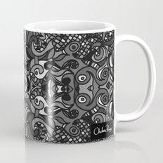 Parti Gras Black and White Mug