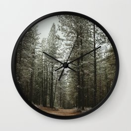 Take the Road Less Traveled Wall Clock