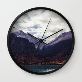 mountainscape in autumn Wall Clock