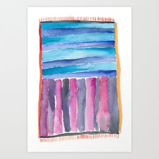 Colorful Quilt Abstract Art Print