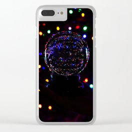 Christmas Light Reflection Clear iPhone Case