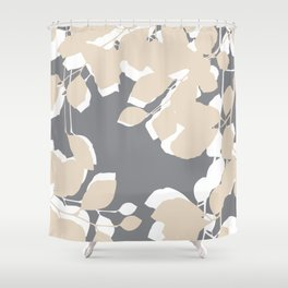 leaves grey and tan Shower Curtain