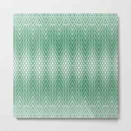 Cool Mint Green Frosted Geometric Design Metal Print