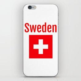 Sweden - Swiss Flag iPhone Skin