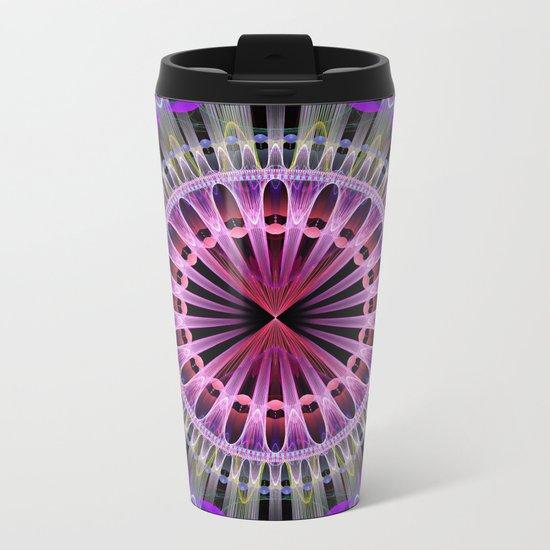 Groovy mandela with with tribal patterns Metal Travel Mug