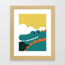 Crocodile rock Framed Art Print