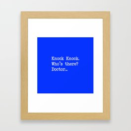 Knock-Knock 1 Framed Art Print