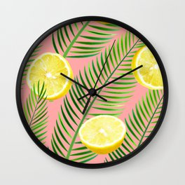 Lemons #society6 #decor #buyart Wall Clock