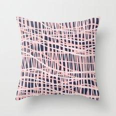 Net Bush and Navy Throw Pillow
