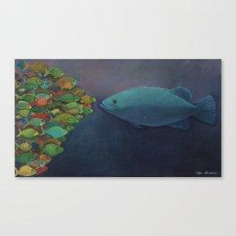 FACE ON Canvas Print