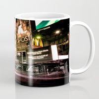 broadway Mugs featuring Lights on Broadway by Allen G.