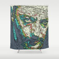 cassandra jean Shower Curtains featuring Jean Reno by Maioriz Home