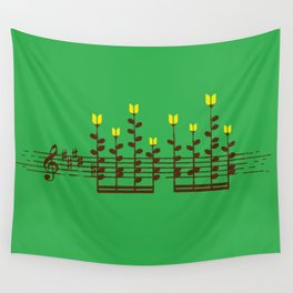 Music notes garden Wall Tapestry
