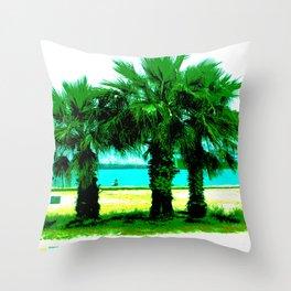 Tropical Tree Trio Throw Pillow