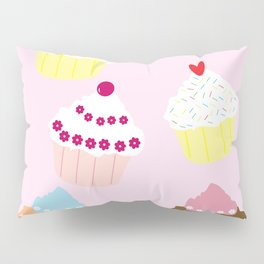 I Love Cupcakes Pillow Sham